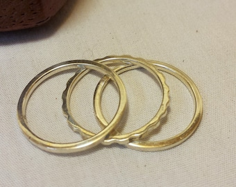 Sterling Silver 3 Stack Ring Set