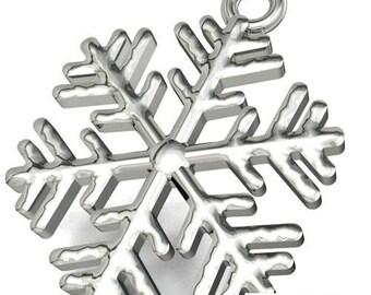 Charm SNOW FLAKE Silver 925 s-charm84
