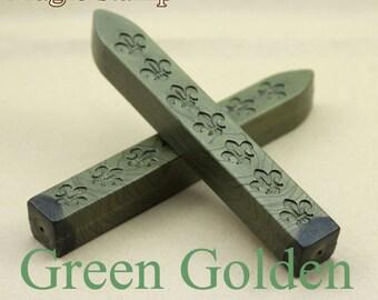 2pcs Green Golden Sealing Wax Sticks for Wax Seal Stamp