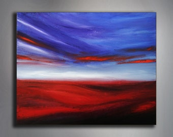 """Abstract Painting - Landscape Painting - 16"""" x 20'' Painting - 40 x 50 cm Painting - Acrylic Painting - Original Handmade Art"""