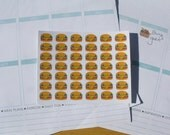 42 Happy Hamburger Stickers for Your Planner - MTD0073