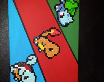 Perler Pokemon Generation 1 Starter Canvas