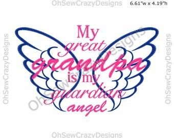 Grandpa - 5X7 Appilque Embroidery Design