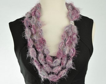 Necklace at crochet neck warmer