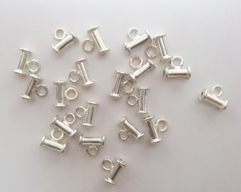 Sterling silver bail slider.  Small. Wholesale prices. BE105
