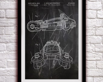 Blade Runner - Spinner - Fantasy Art Patent - Patent Print Poster Wall Decor - 0134
