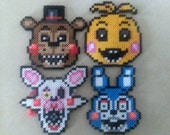 Five Nights at Freddy's 2 - Perler Bead Sprites - ORNAMENT + MAGNET OPTION