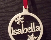 Personalised Bauble Christmas Tree Decoration With Snowflakes