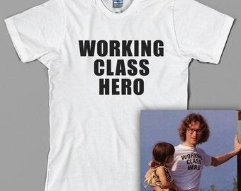 John Lennon T Shirt  - working class hero, the beatles, paul mccartney, yoko ono, imagine - Graphic Tee, All Sizes & Colors
