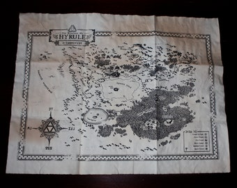 "Zelda ""Kingdom of Hyrule Map"" - Ocarina of Time"