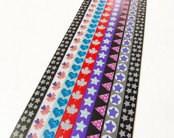 Triangle,Star and Heart Origami Lucky Star Paper Strips Star Folding - Pack of 160 Strips