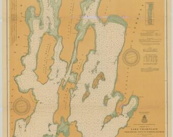 Lake Champlain Map 1917
