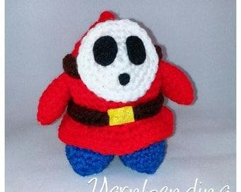 Shy Guy Mario Crochet Plushie