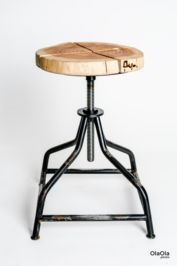 sc 1 st  Etsy & Handmade industrial swivel stool and larch wood. islam-shia.org