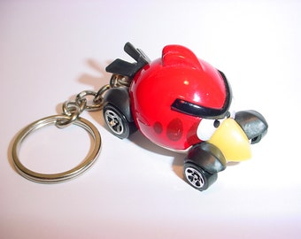 3D Angry Birds' Redbird custom keychain by Brian Thornton keyring key chain finished in red color trim game legend