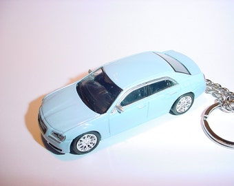3D 2013 Chryler 300C custom keychain by Brian Thornton keyring key chain finished in powder blue color trim diecast metal body