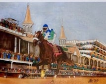 REDUCED PRICE for limited edition print  BARBARO, Winner of Kentucky Derby, 2006