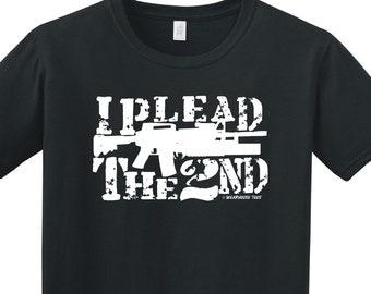 I Plead the 2nd Amendment NRA Shooter Funny Tee Shirt Military Gun Rights