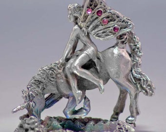Unicorns Thirst Pewter Fantasy Collectible 4583