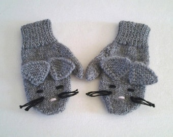 Charming Mice Mittens for Toddlers and Children.