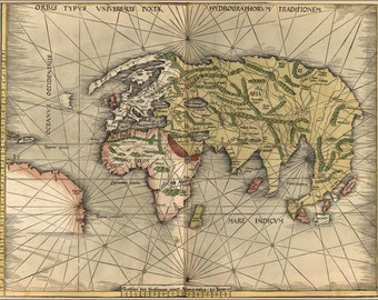 24x36 Poster; Map Of The World 1513 P3
