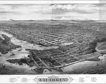 24x36 Poster; Map Of Victoria, Vancouver Island Canada 1878