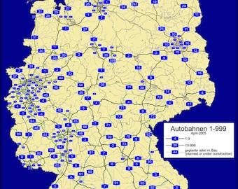 24x36 Poster; Autobahn Network