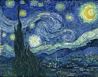 24x36 Poster; Starry Night Vincent Van Gogh, The Starry Night