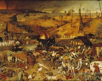 24x36 Poster; Triumph Of Death Pieter Bruegel The Elder 1562