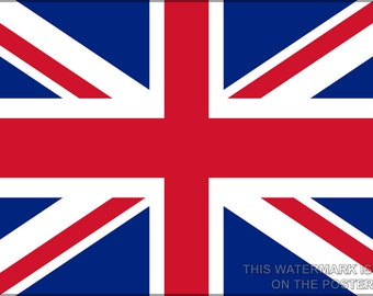 24x36 Poster; Union Jack
