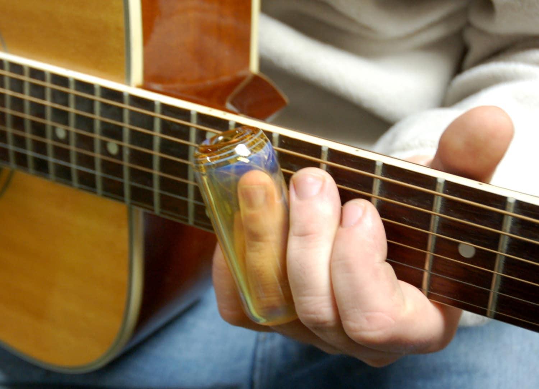 silver fumed hand blown clear glass guitar slide by jimstonetubes. Black Bedroom Furniture Sets. Home Design Ideas