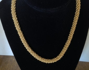 Gold Kumihimo Necklace