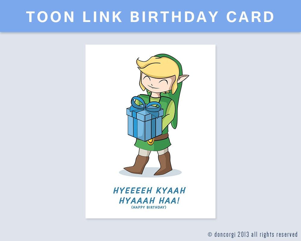 Printable legend of zelda birthday card greeting cards digital printable legend of zelda birthday card greeting cards digital card geek gifts bookmarktalkfo Images