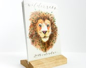 2015 Wilderness themed desk calendar/wooden stand calendar/woodland calendar/small desk calendar/animal illustration/New year's gift