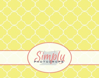 YELLOW QUATREFOIL vinyl Photography Backdrop