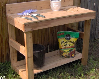 Brand New 6 Foot Deluxe Cedar Potting Bench - Free Shipping