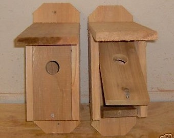 2 Brand New Cedar Bluebird Houses - Free Shipping