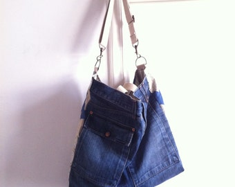 Sold///DENIM Big BAG handmade