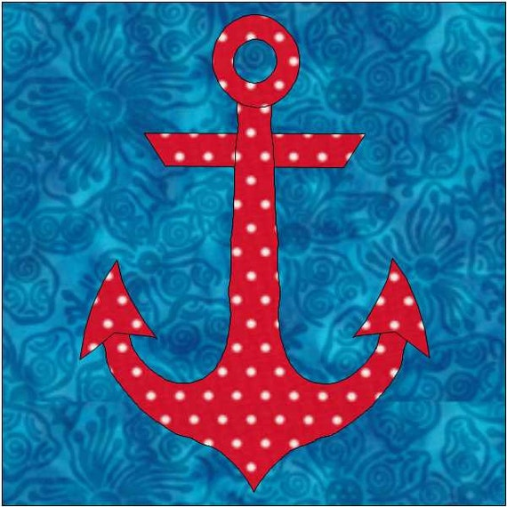 Anchor Pattern Anchor Quilt Block Pdf Download Instant