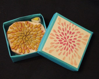 Chrysanthemum Rubber Stamp