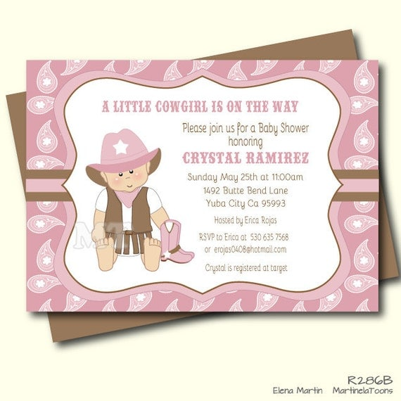 product search cowgirl baby shower  catch my party, Baby shower invitations
