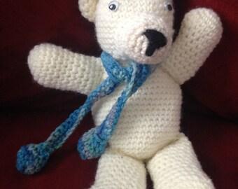 Cute Polar Bear Crocheted by this White-haired Grandma