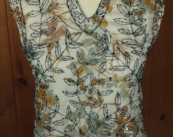 Vintage Beaded  Floral Sheath