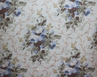 RALPH LAUREN fabric Cottage Rose Floral, Prairie Blue, for  Upholstery, Drapery, Bedding,