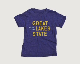 Great Lakes State Kids Tee