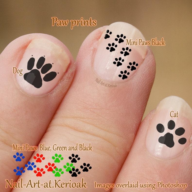Zero The Dog Nail Designs: Pawprint Nail Art Dog And Cat Nail Art Stickers Fingernail