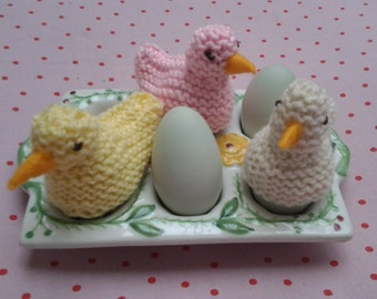 Egg Cosy, Trio of  Egg Covers,  Chick Egg Cosy, Egg Cosie, Easter Egg Cosie