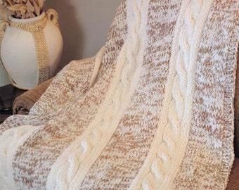 winter afghan dk knitting pattern 99p