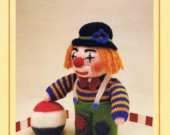 clown toy dk knitting pattern 99p pdf