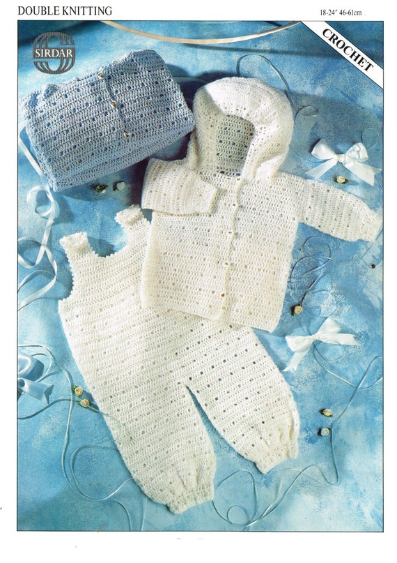 jacket and dungarees dk crochet pattern 99p by Heritageknitting1
